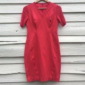 Elie Tahari Sz 6 Shannon V-neck Sheath Dress